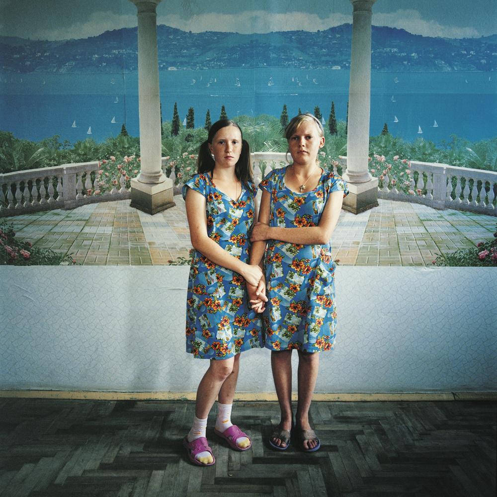 Masha (left), sentenced for violence, and Sveta, sentenced for theft.Juvenile prison for girls, Ukraine, 2009.