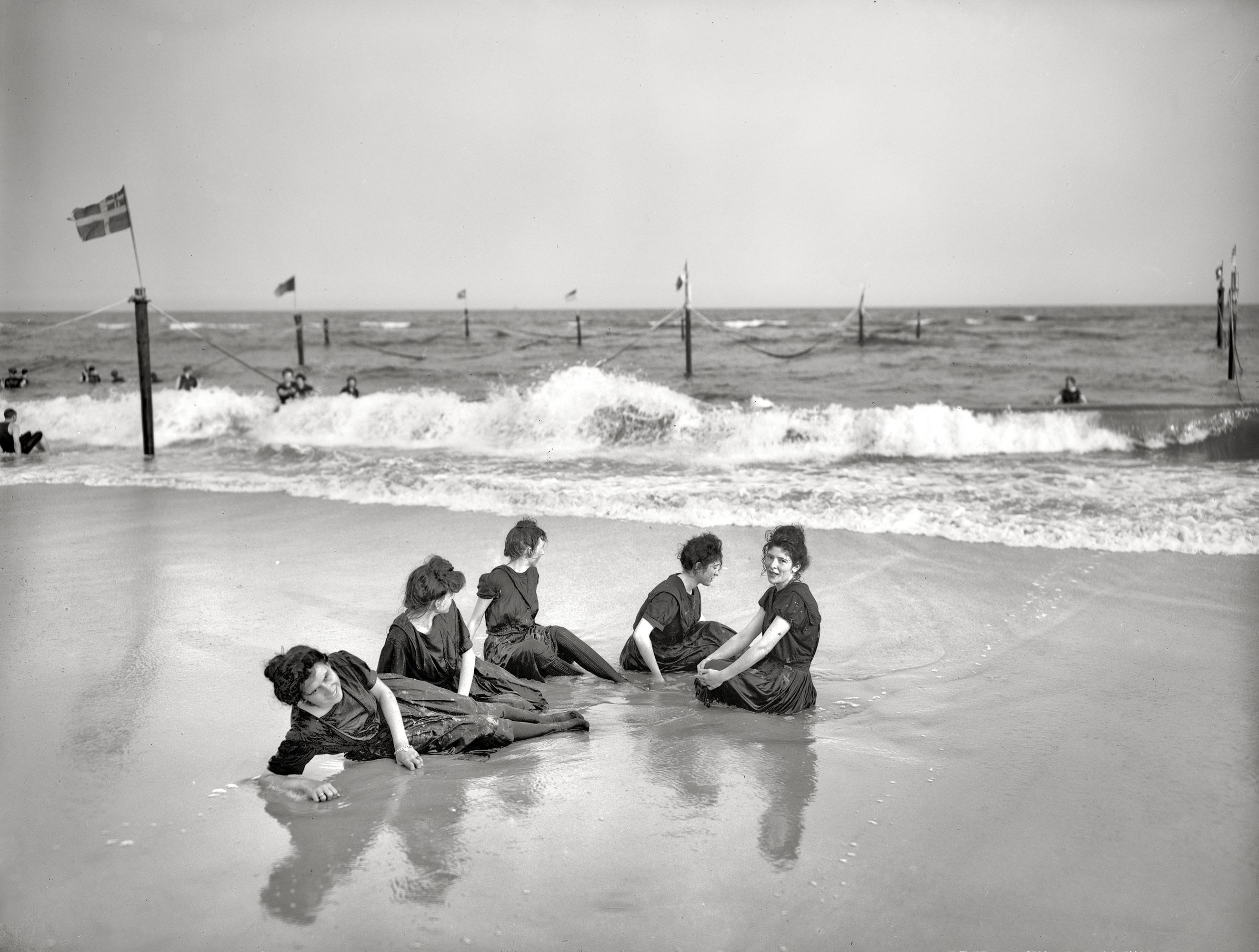 On the Atlantic circa 1905.  An afternoon on the beach.