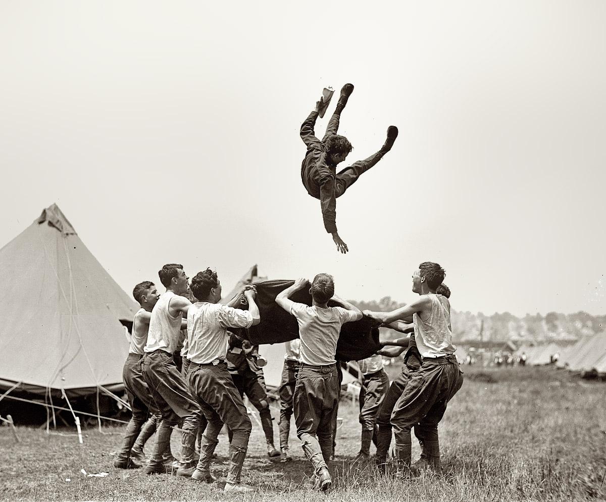 July 3, 1913.  Fun at camp.  Boy Scouts in Gettysburg, Penn.