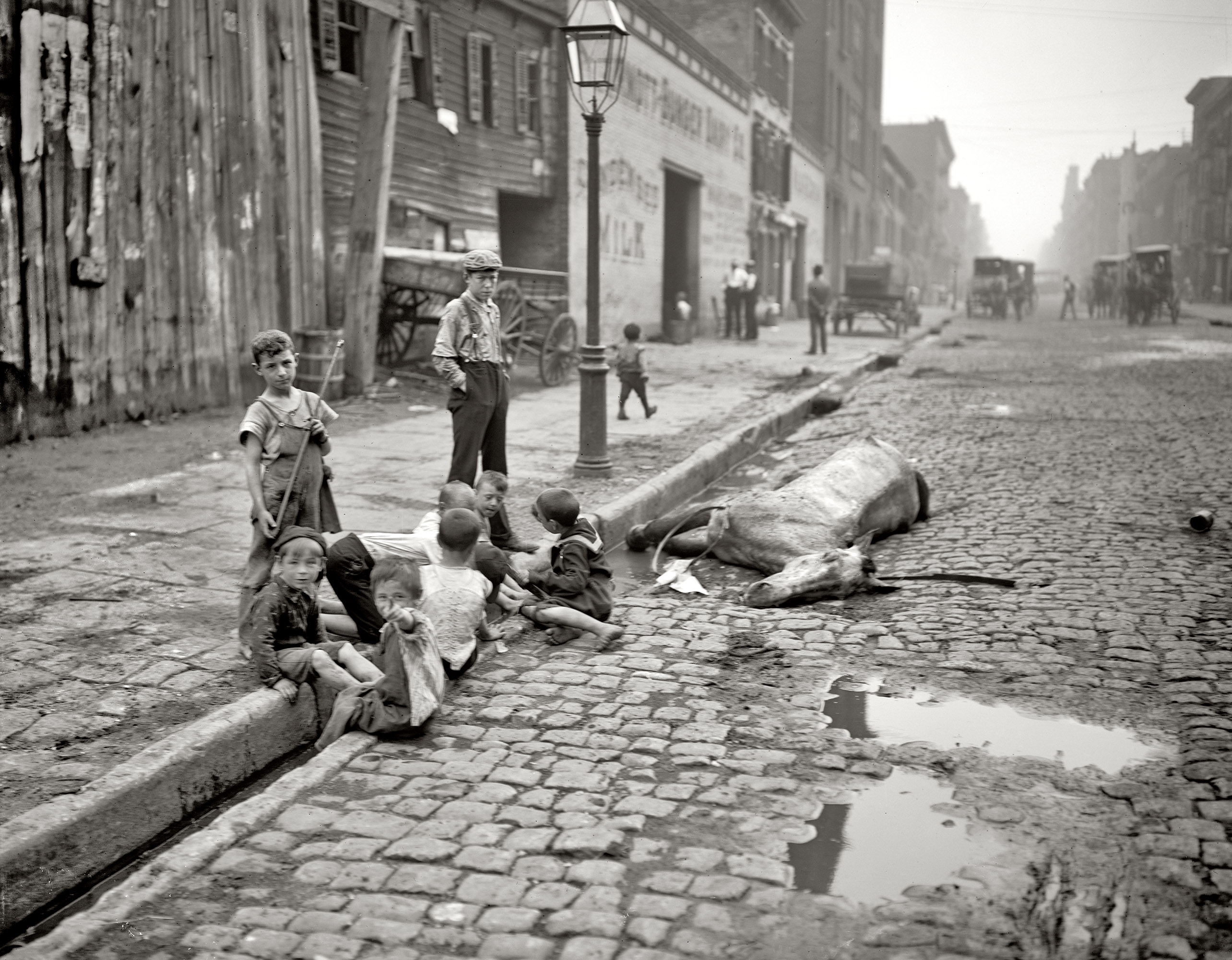 Circa 1905.  The close of a career in New York.