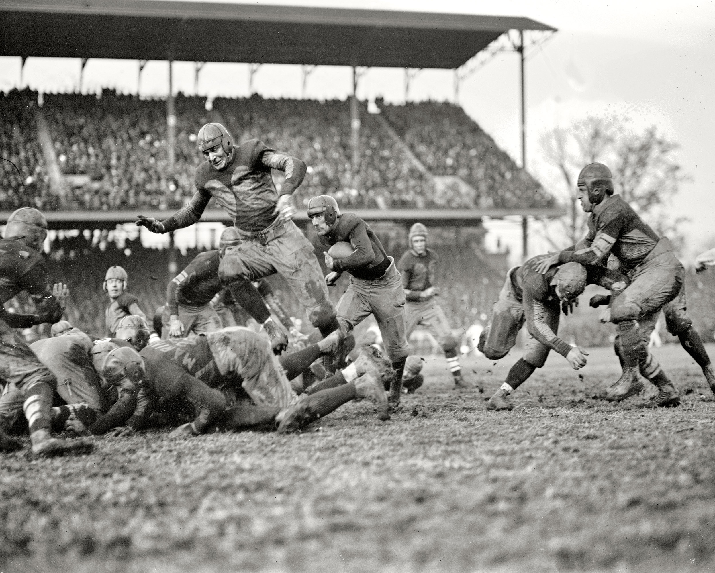 December 1, 1923. Washington, D.C.  Marine-Army game, Griffith Stadium.  Marines carried the day 7-0.