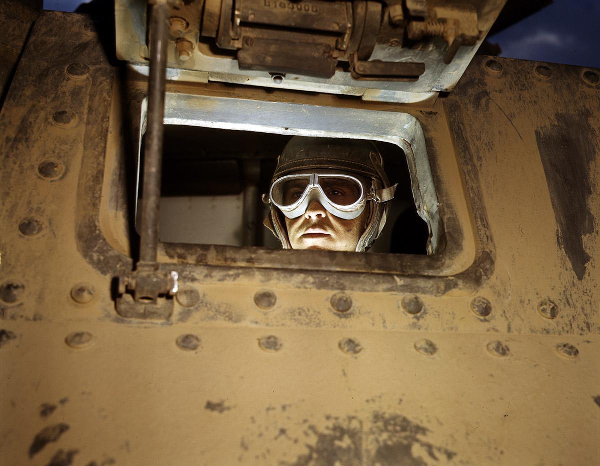 Tank driver, Fort Knox. June 1942.