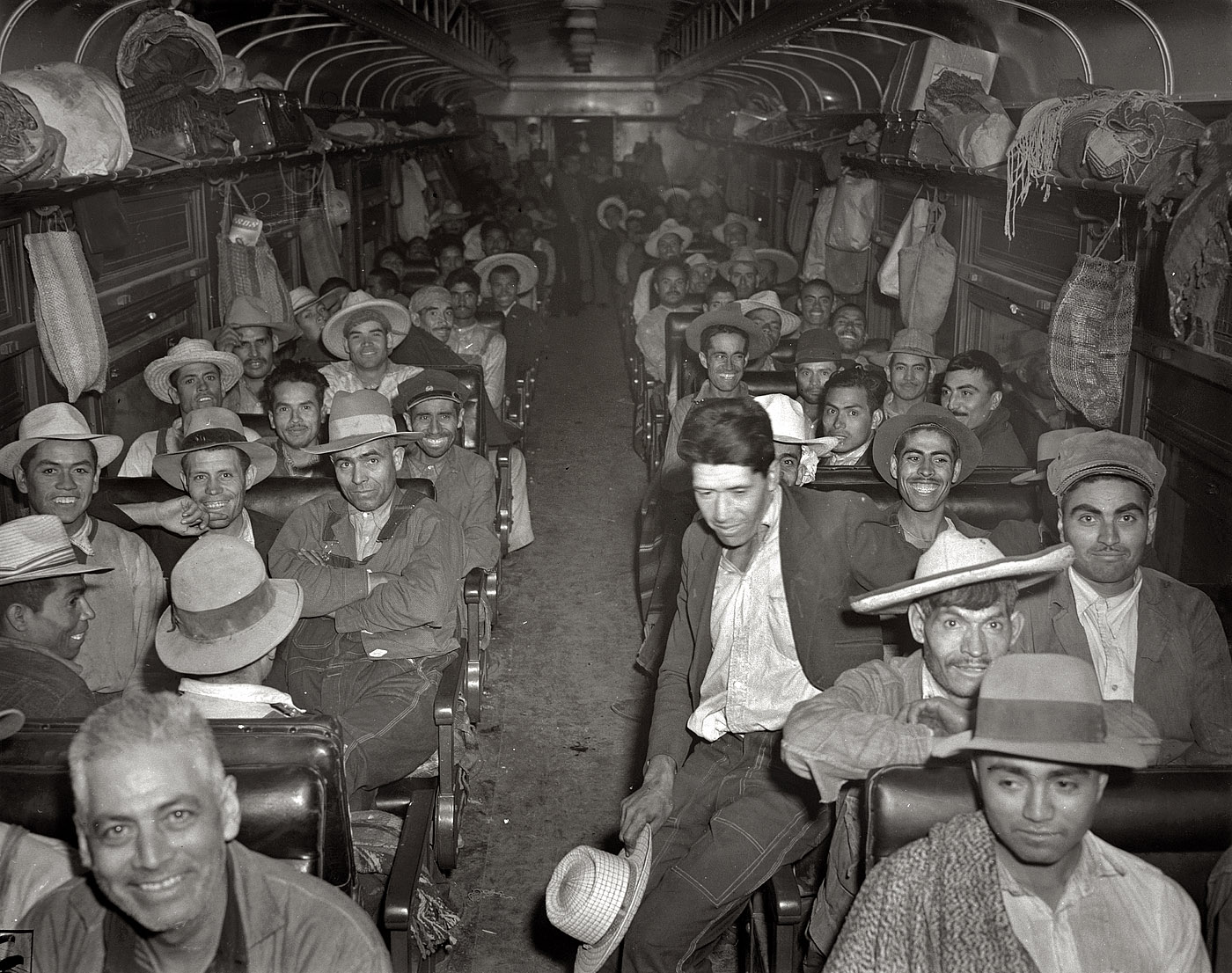 May 1943.  Mexican workers recruited and brought to the Arkansas valley, Colorado, Nebraska and Minnesota by the FSA to harvest sugar beets.