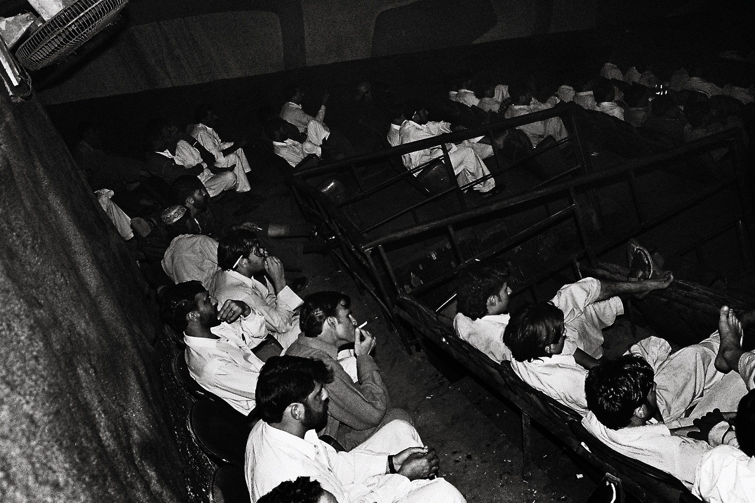 The cinema gets increasingly packed after Friday prayers when the city lets out from work and the weekend begins. A man lights up a joint in the back row as the film starts.