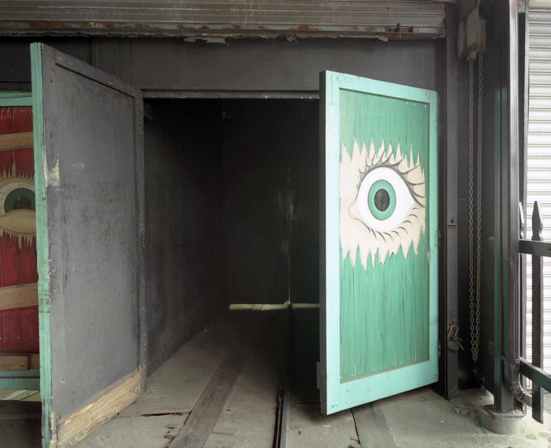 Eye on door                               Spook-A-Rama, Coney Island, N.Y., 2005