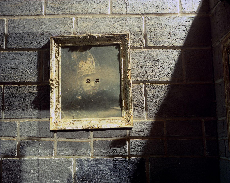 Eyeless painting                               Darkside Haunted House, Wading River, Long Island, N.Y., 2005
