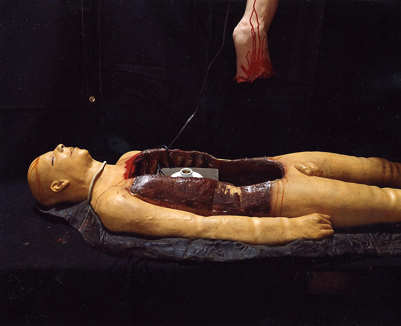 Body with light socket                               NJ Halloween, Somerset, N.J., 2005