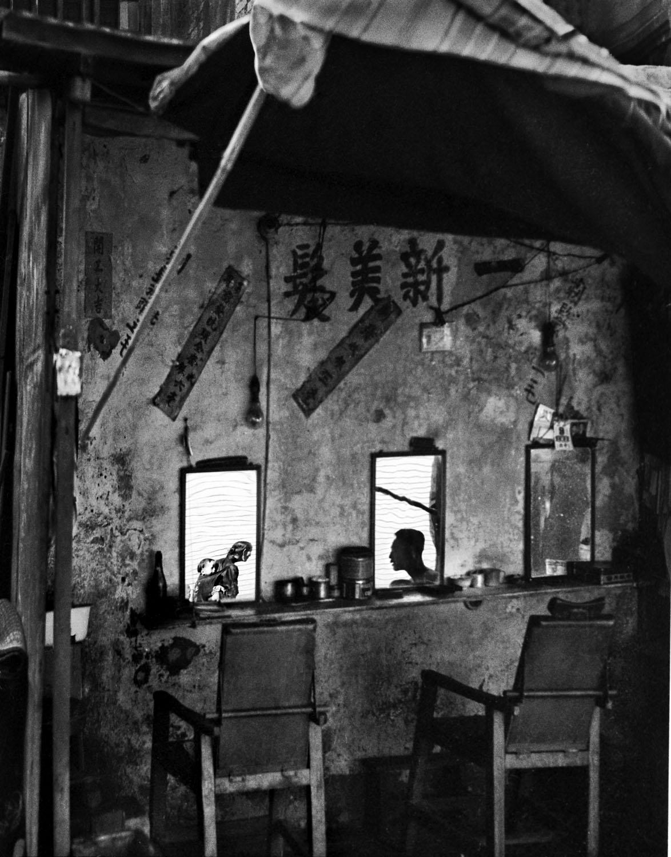 Sidewalk Barber Shop, 1960