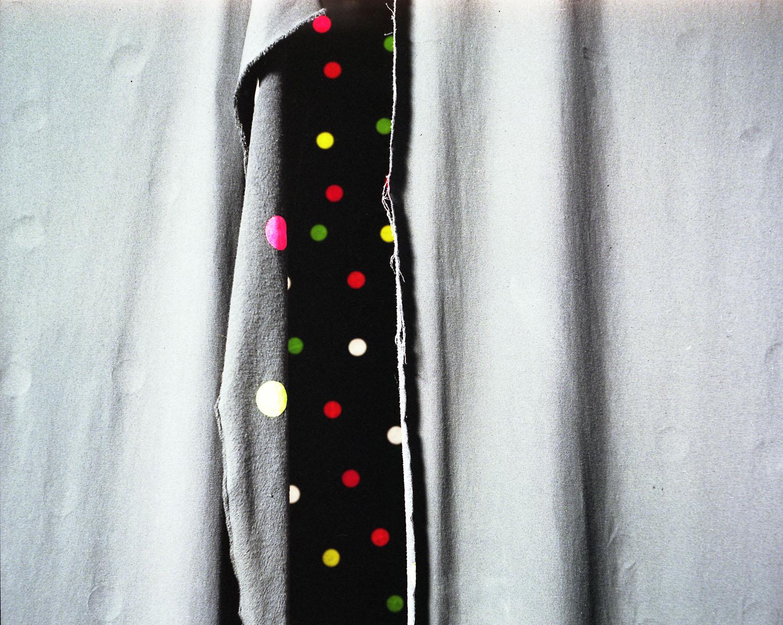 Polka dots on curtain                               Ghostly Manor, Sandusky, Ohio, 2007