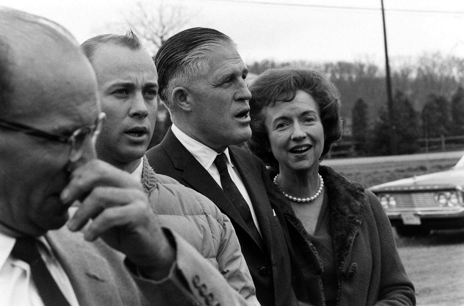 Michigan governor George Romney and wife Lenore (right), November 1963.