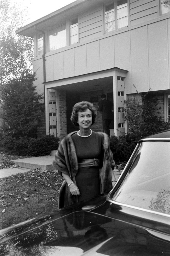 Lenore Romney, wife of Michigan governor George Romney, East Lansing, Mich., 1963.