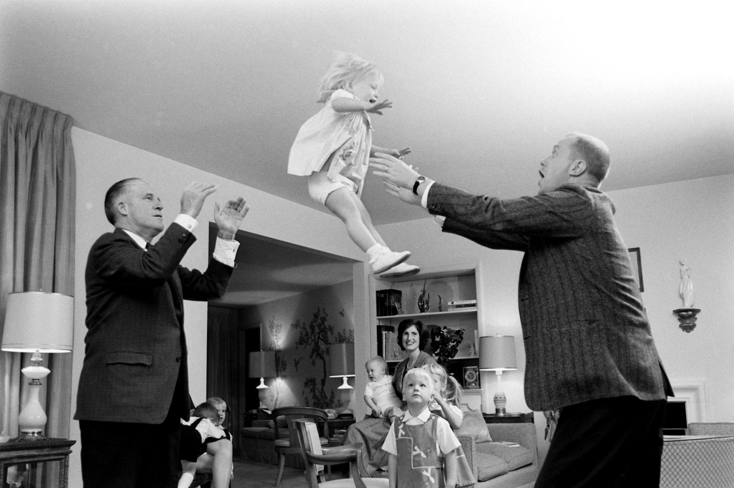 Michigan governor George Romney (left) and family, November 1963.