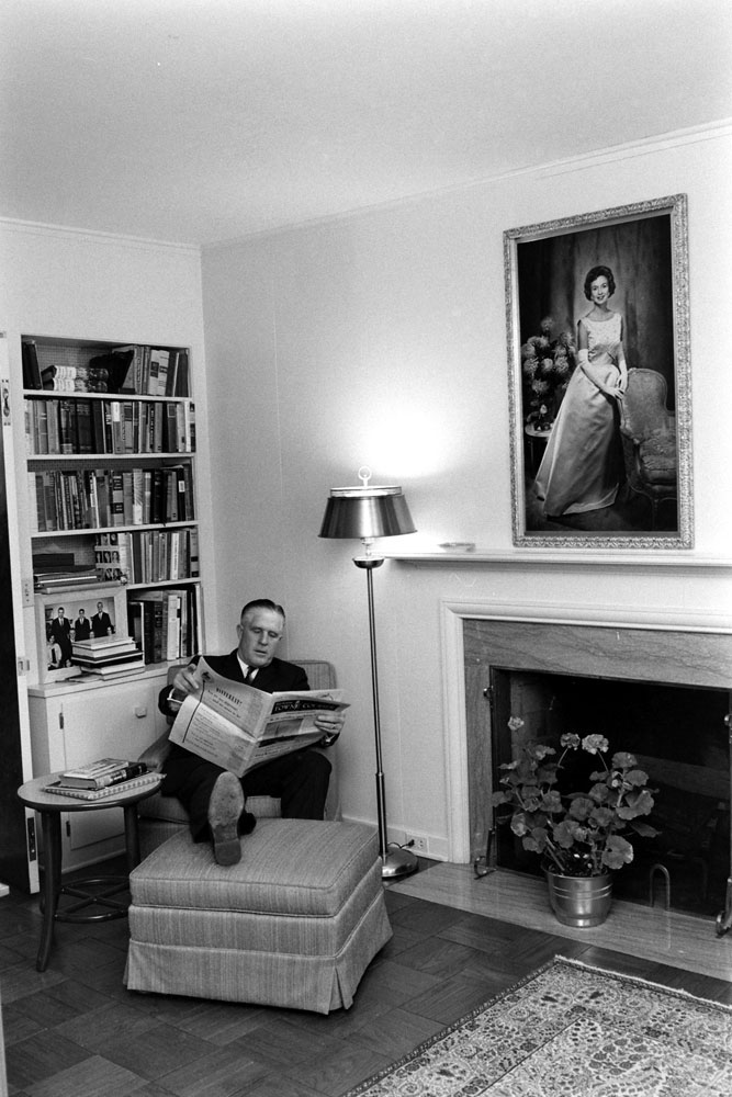 Michigan governor George Romney at home, 1963.