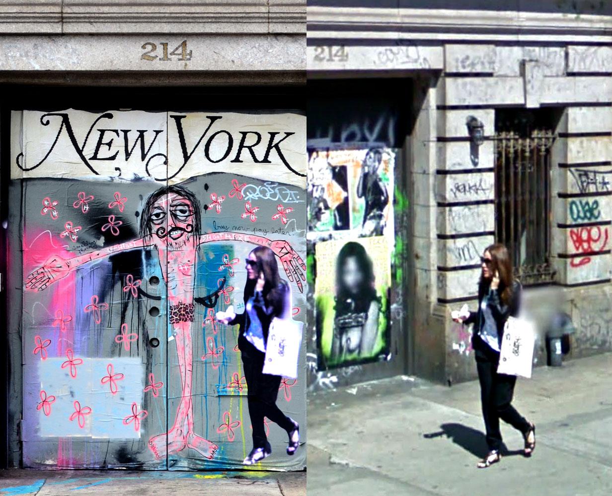 Street Ghosts                               214 Lafayette Street, New York. 2009