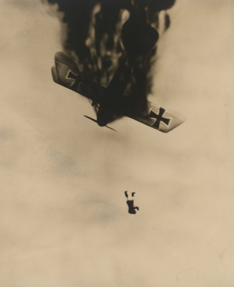 Just as he left the burning plane, from the publication Death in the Air: The War Diary and Photographs of a Flying Corps Pilot                               c. 1933                                                              Wesley David Archer, American, 1892–1955