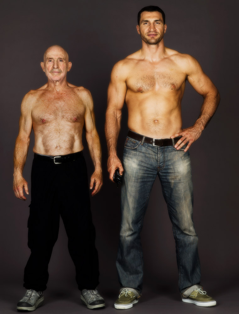 """Wladimir Klitschko said to Schatz, """"I'm not a boxer; my brother, Vitali, is the boxer. I am other things. So, I'll let you make a portrait but I am not going to make boxing images.""""                               Schatz begged, """"Please, at least take off your shirt.""""                               He said, """"I'll take my shirt off if you take off yours and we'll make a photograph together."""