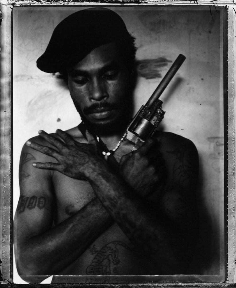 Raskols: The Gangs of Papua New Guinea, published by powerHouse Books this month.All portraits in this series were taken in Papua New Guinea in 2004Omsy