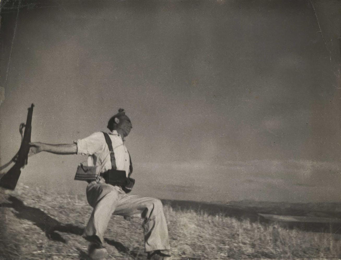 Death of a Loyalist Militiaman, Córdoba front Spain                               Late Aug.–early Sept. 1936                               Robert Capa, American, born Hungary, 1913–1954