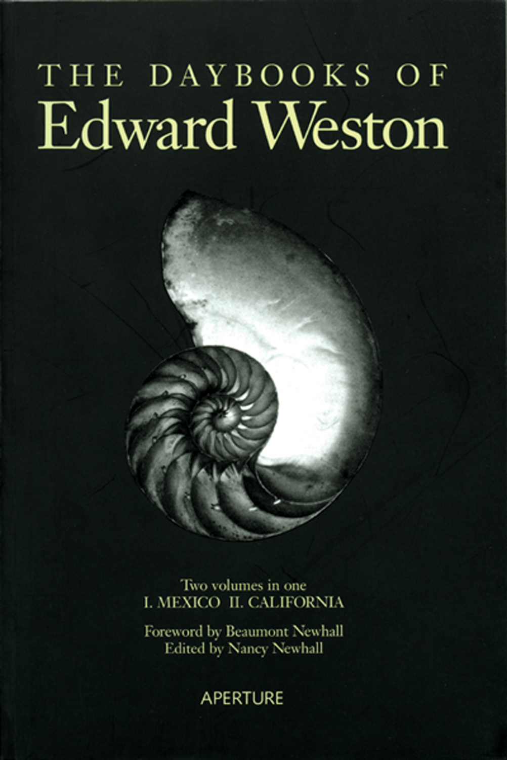 Edward Weston's The Daybooks of Edward Weston, Vol. I, Mexico, published in 1973.                                The book contains more than 15 years of the renowned photographer's journals, providing insight into his personal struggles in life and art.