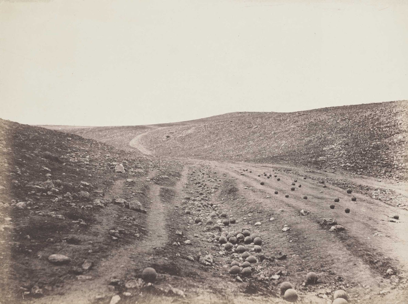 The Valley of the Shadow of Death, Crimea, Russia                               1855                               Roger Fenton, English, 1819–1869