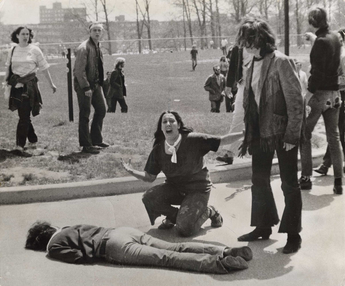 The Grieving Student at Kent State University, Ohio                               May 4, 1970                               John Filo, American, born 1948