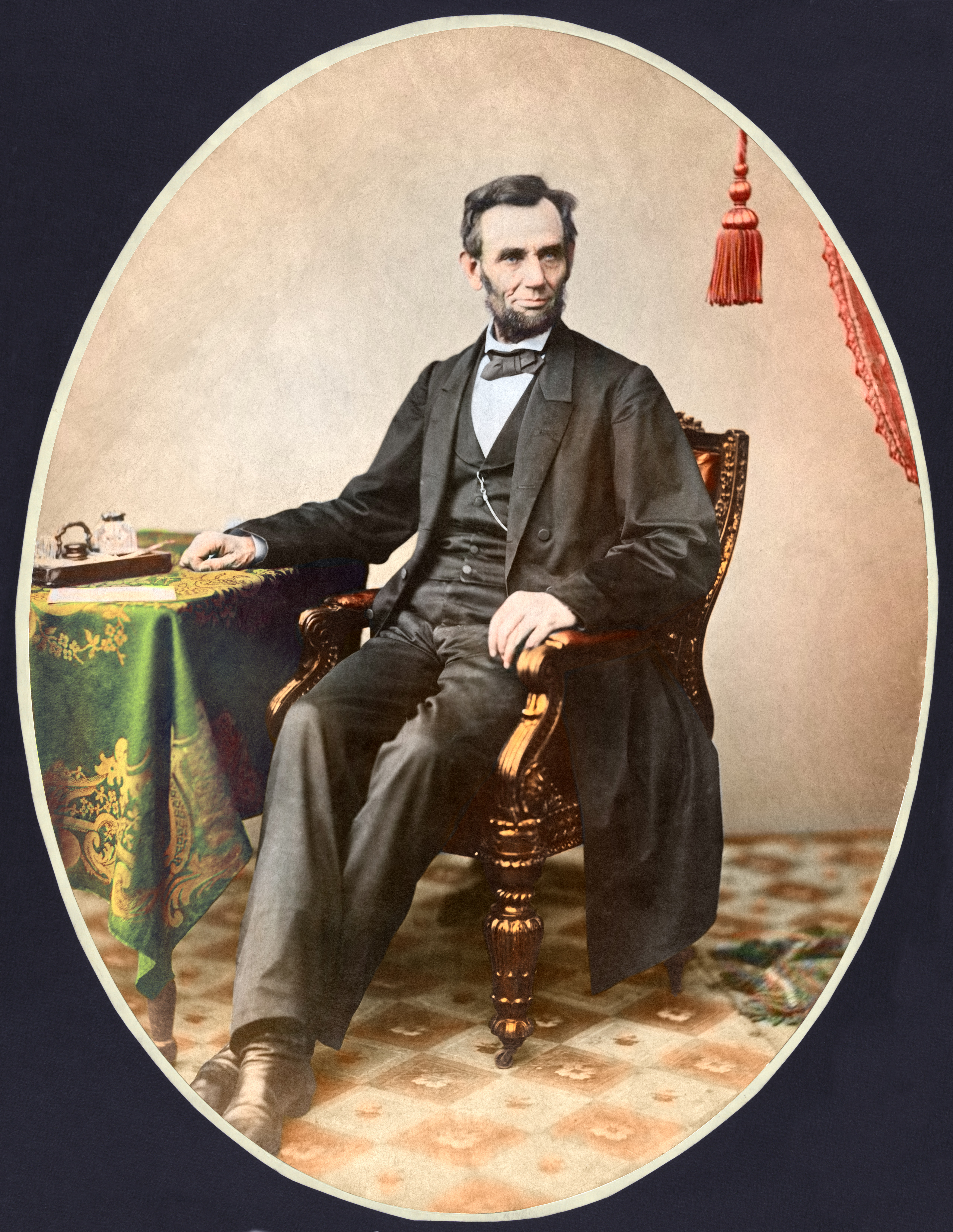 November 8, 1863. Photograph shows President Abraham Lincoln, a little more than a week before he gave the Gettysburg Address.