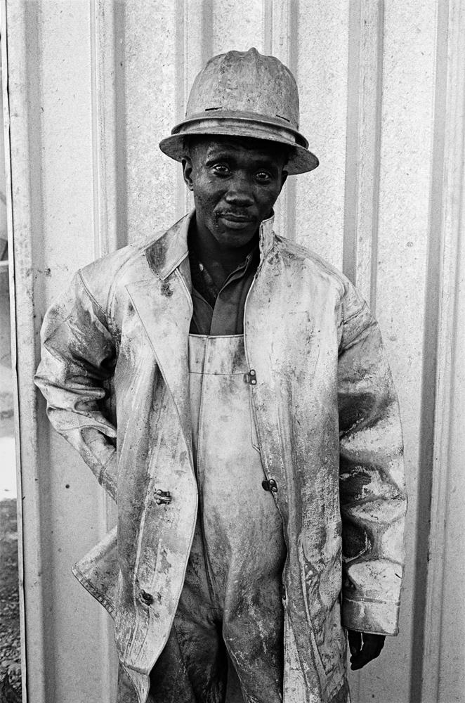 Masotho shaftsinking Machine Man, President Steyn No. 4, Welkom. 1969.