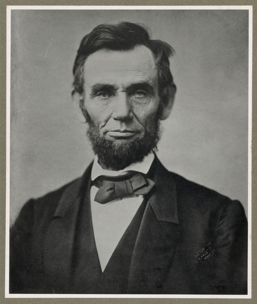 Nov. 8, 1863. Formal portrait of Abraham Lincoln.