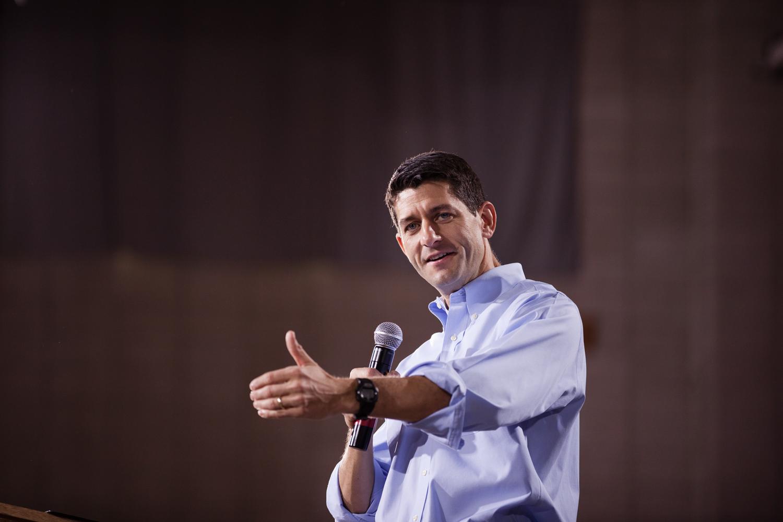 Paul Ryan speaks at the  Earn It  rally in Derry, N.H. Sept. 29, 2012.
