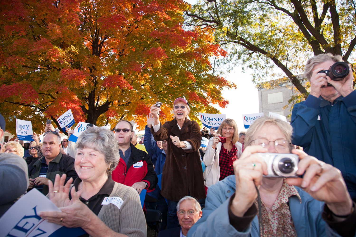 The crowd at the Clinton Victory Rally in Clinton, Iowa. Oct. 2, 2012. Ryan campaigned in Iowa in the week leading up to the Vice Presidential debate.
