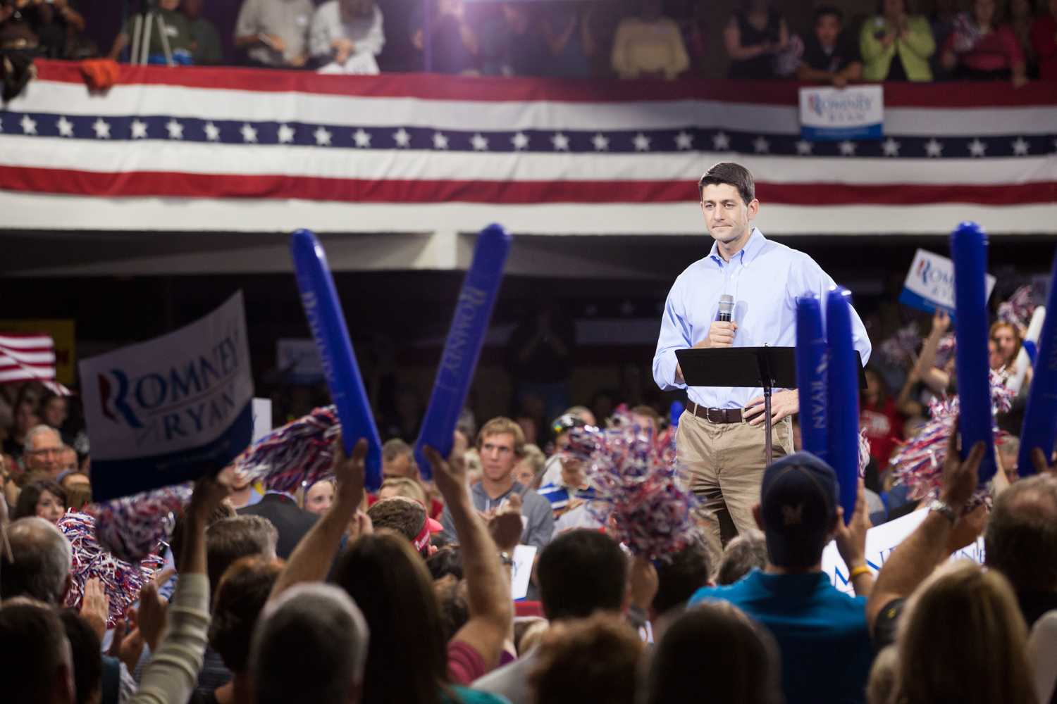 Paul Ryan speaks at the Dubuque Victory Rally and Bus Tour Kickoff in Dubuque, Iowa. Oct. 1, 2012.
