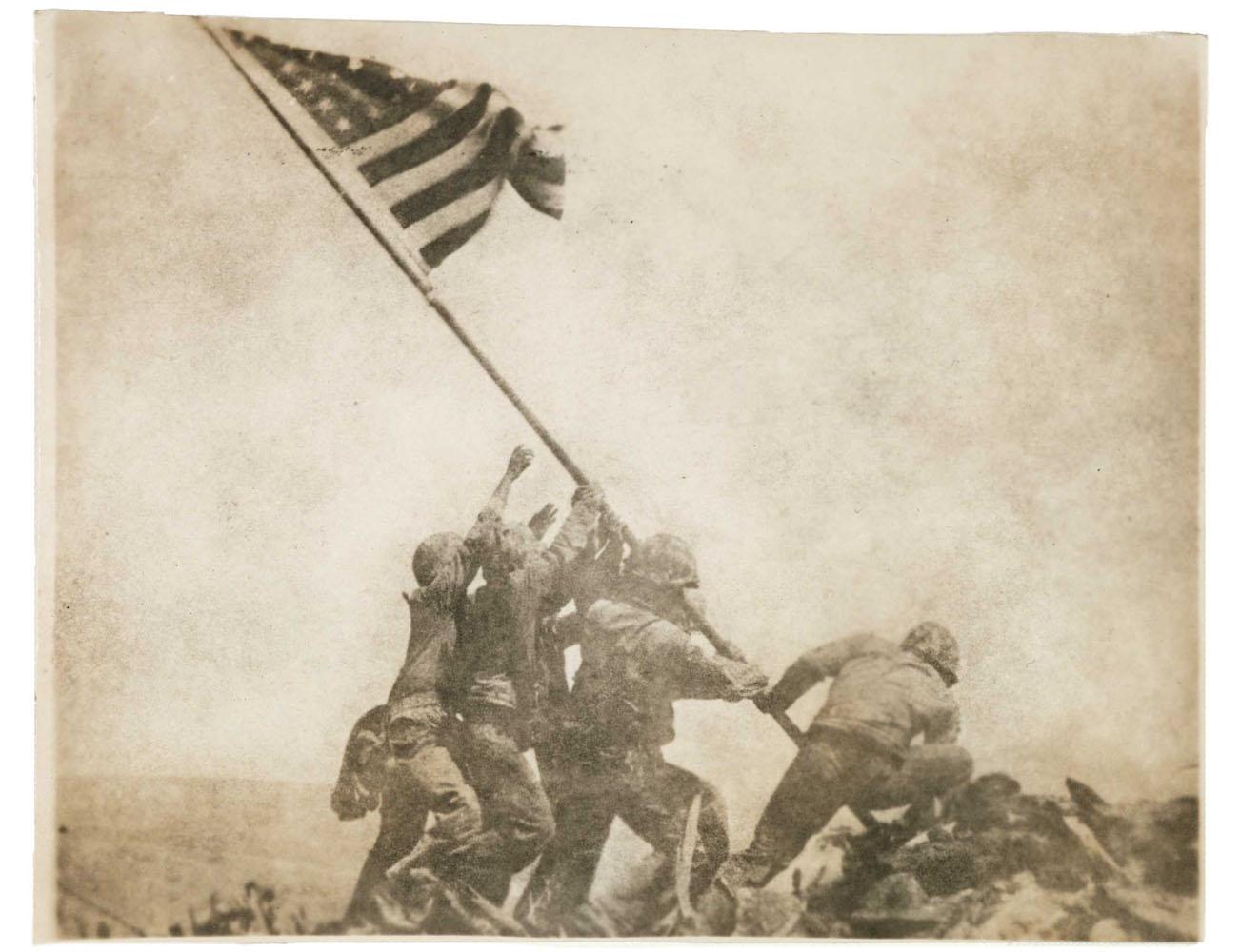 Old Glory Goes Up on Mount Suribachi, Iwo Jima                               Feb. 23, 1945                                Joe Rosenthal, American, 1911-2006