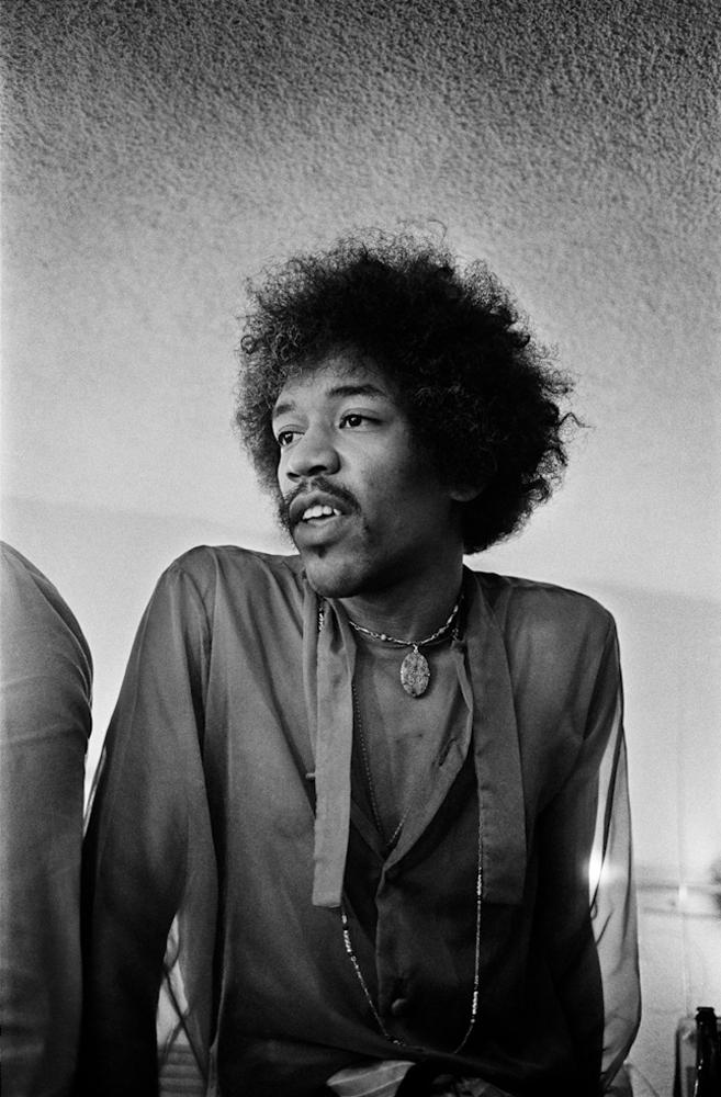 Jimi Hendrix, Winterland Ballroom, San Francisco, 1968.