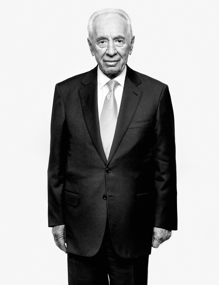 Shimon Peres, President of Israel. From  10 Questions,  April 2, 2012 issue.