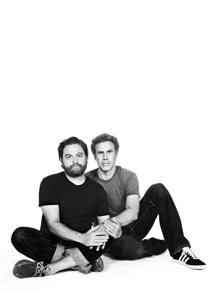 Zach Galifianakis (L) and Will Ferrell, Actors. From  Mock the Vote,  August 6, 2012 issue.