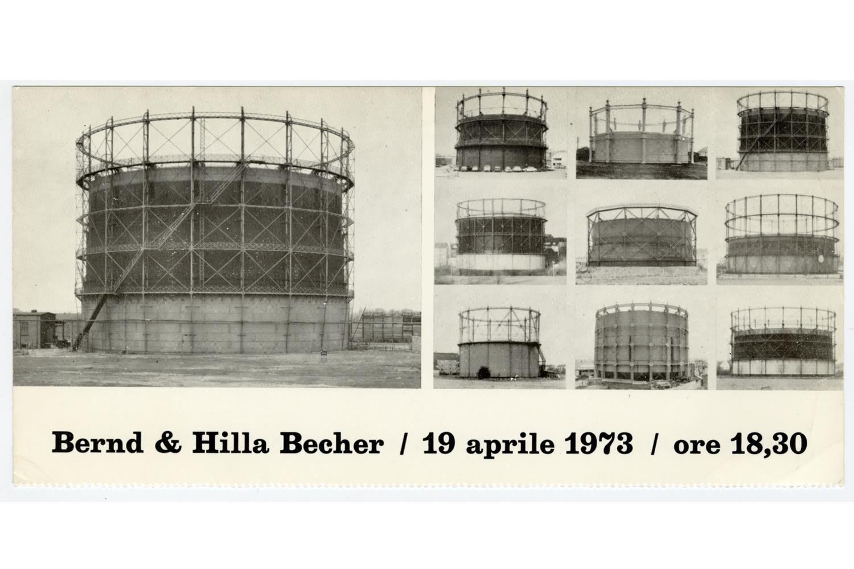 Bernd & Hilla Becher                               Invitation card, Forma Gallery                               Genes, Italy, 1973