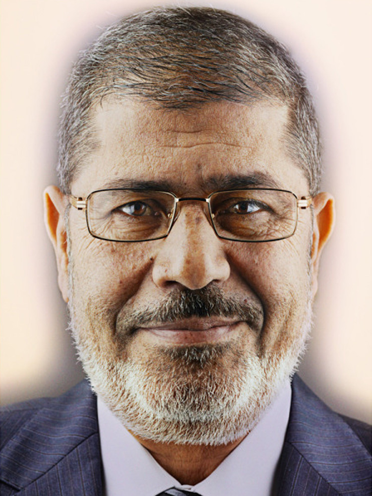 Egyptian President Mohamed Morsi, photographed in the Presidential Palace in Cairo, Nov. 28, 2012. From  Morsi's Moment,  December 10, 2012 issue.