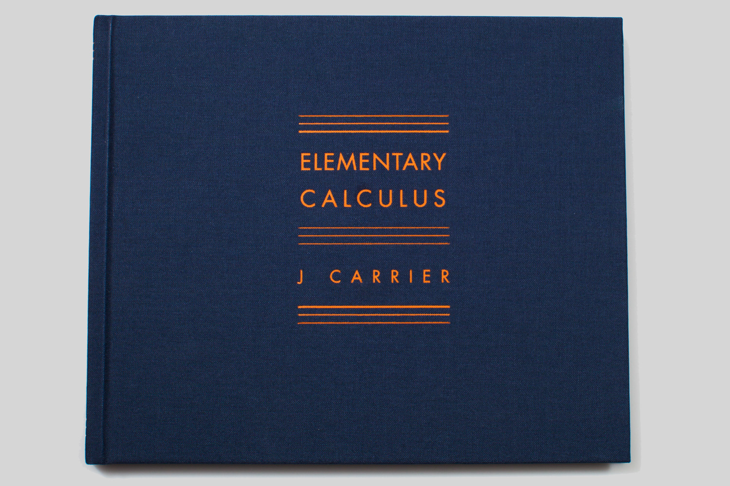 Elementary Calculus by J. Carrier, selected by Alec Soth, photographer and publisher of Little Brown Mushroom