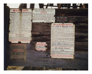 A spread from the book:  Notices in English, Afrikaans, Sotha, Xhosa and Tsonga, on the bank at New Modderfontein, Benoni, 1965.