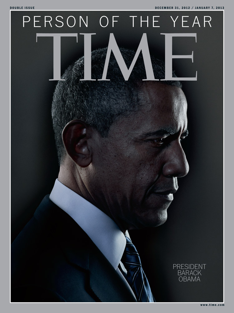 The cover of TIME's 2012 Person of the Year issue, featuring President Barack Obama