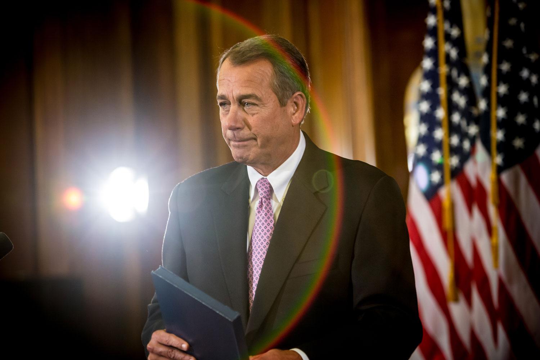 Bipartisanship                               Nov 7, 2012. House Speaker John Boehner makes remarks on Capitol Hill in Washington, DC, during talks on the  fiscal cliff.