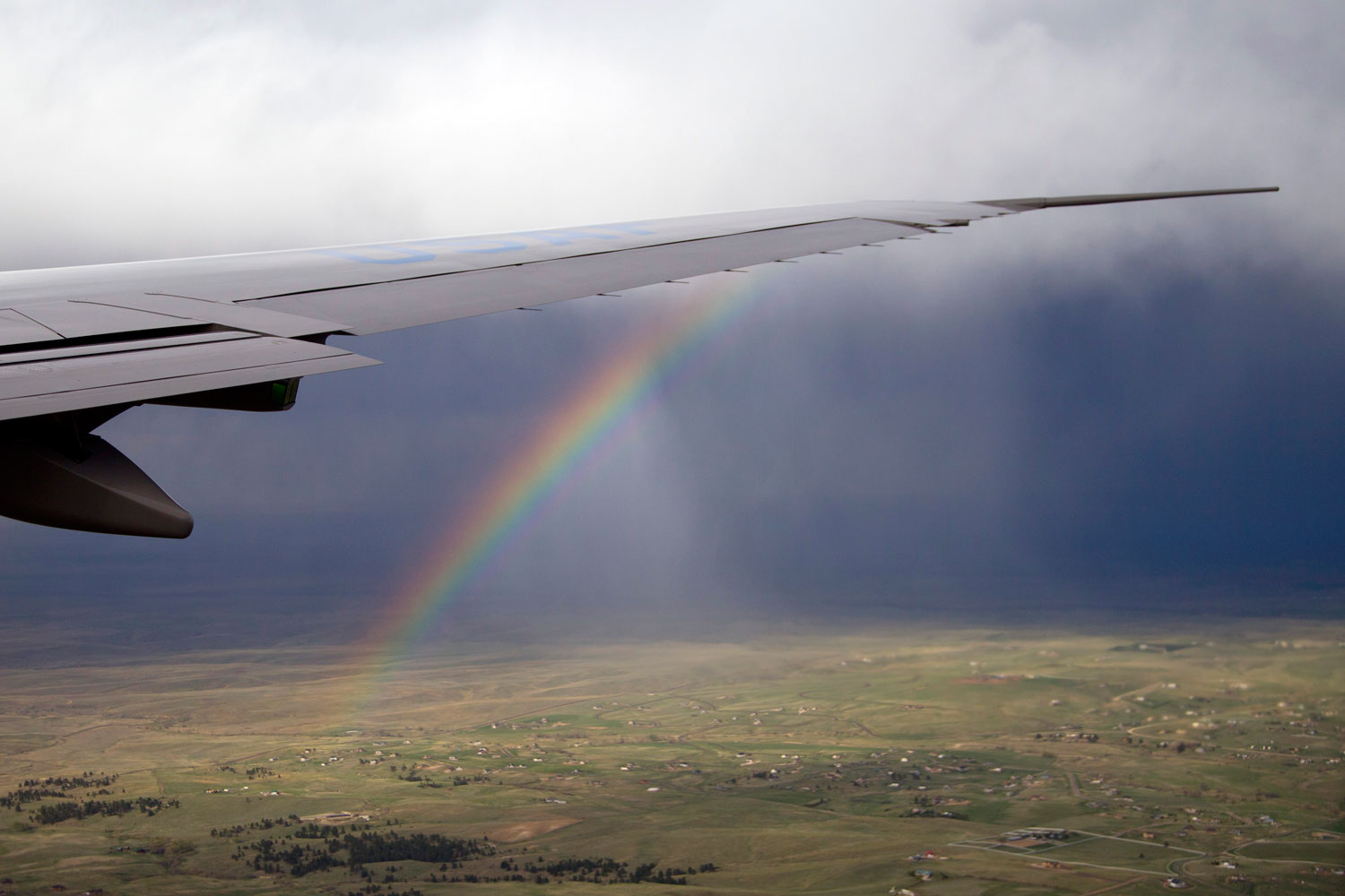 An Effective Second Term                               April 24, 2012. A rainbow is seen off the wing Air Force One as it flies over Colorado with President Barack Obama aboard.