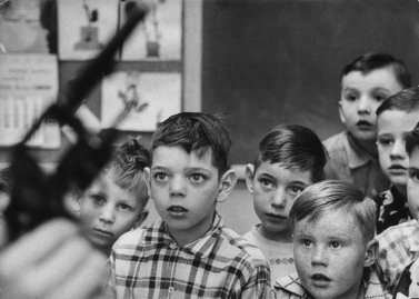 Portraits of Schoolkids Learning Firearm Safety in Rural Indiana, 1956