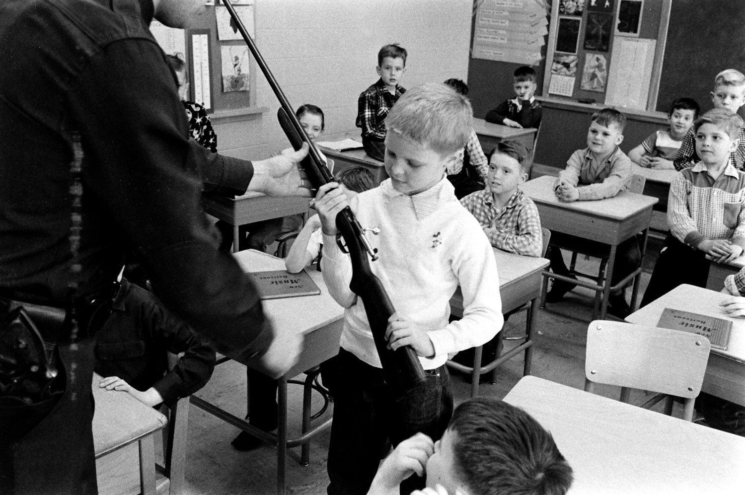 Gun safety instruction, Indiana, 1956.