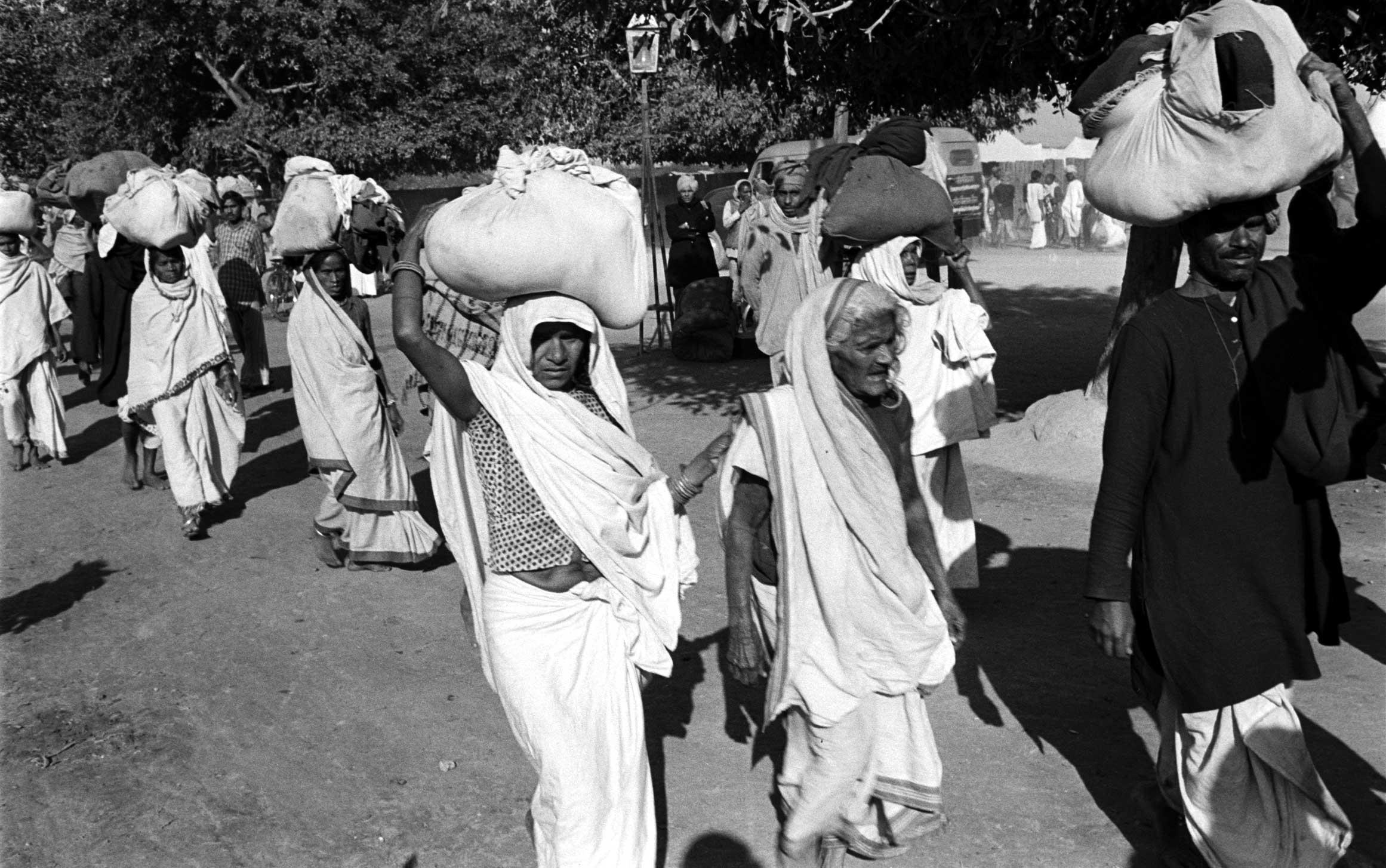 <b>Not originally published in LIFE.</b> Scene during the Kumbh Mela, India, 1953.