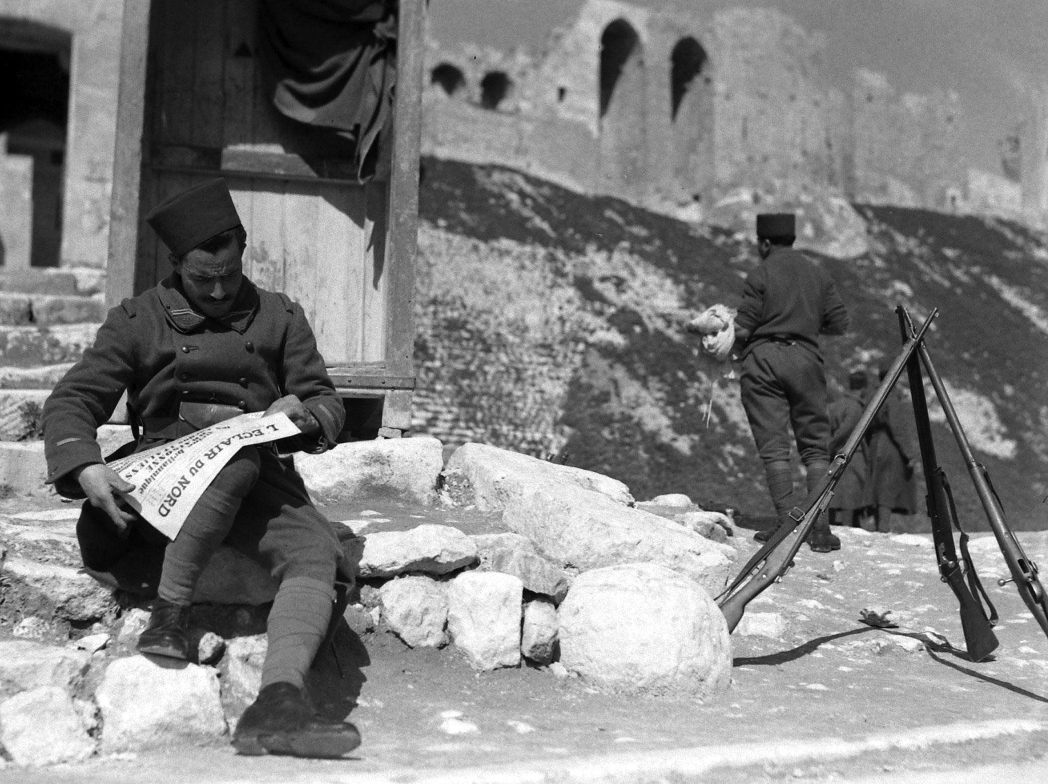 Scene in Aleppo, Syria, 1940.
