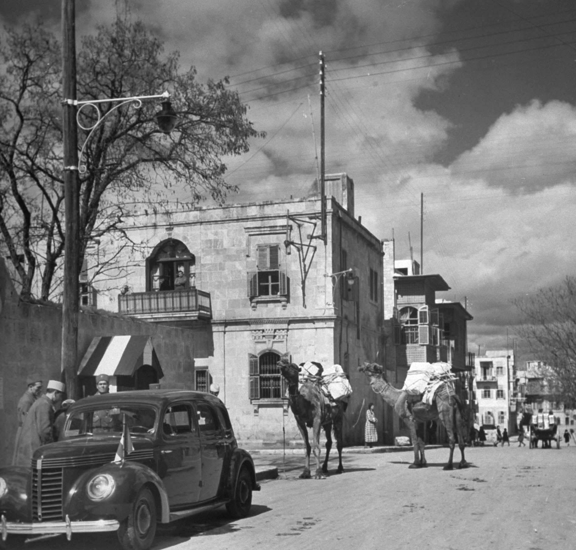 Street scene, Aleppo, 1940.