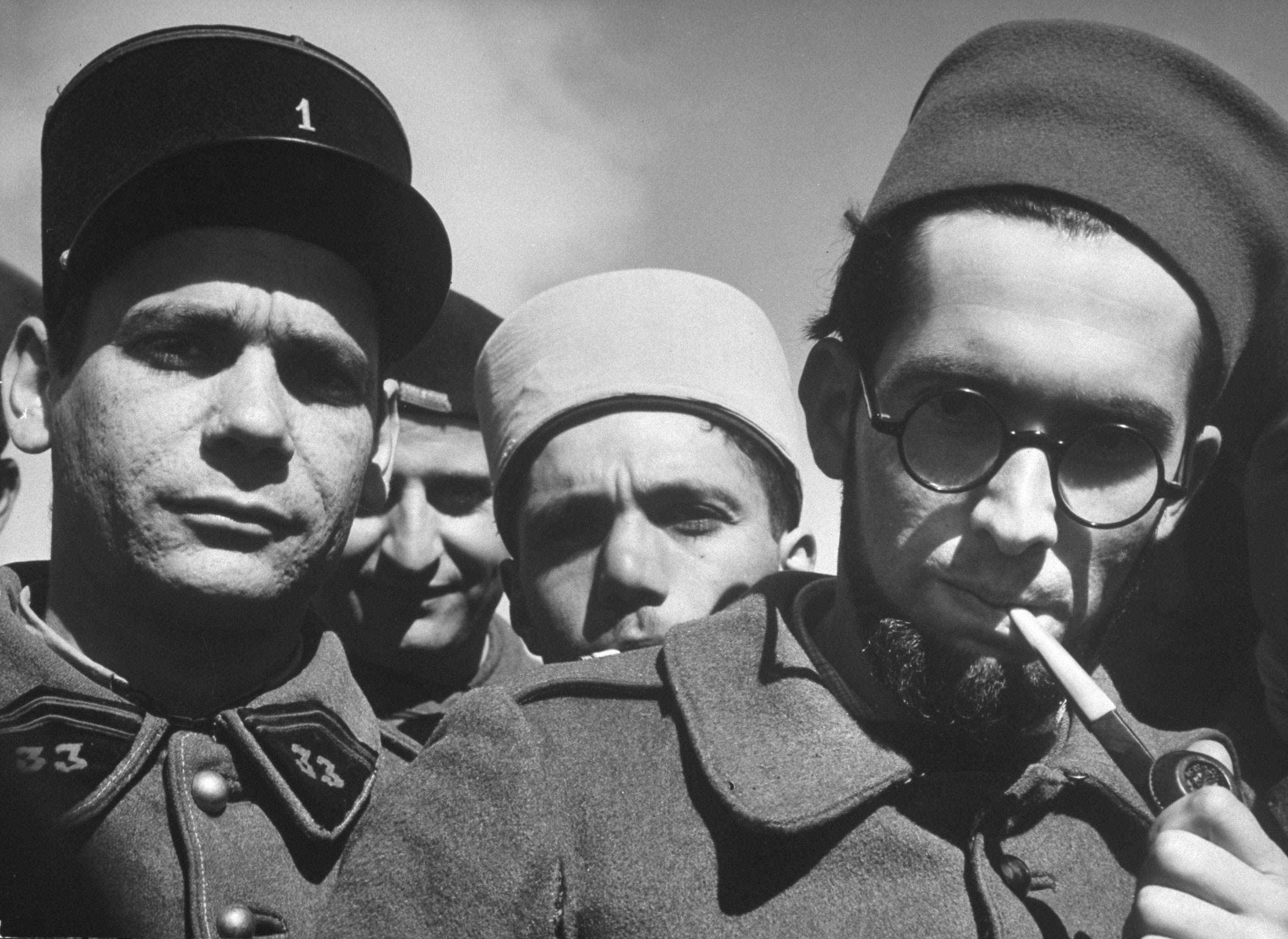 French Foreign Legion soldiers at their outpost at Homs, Syria, 1940.