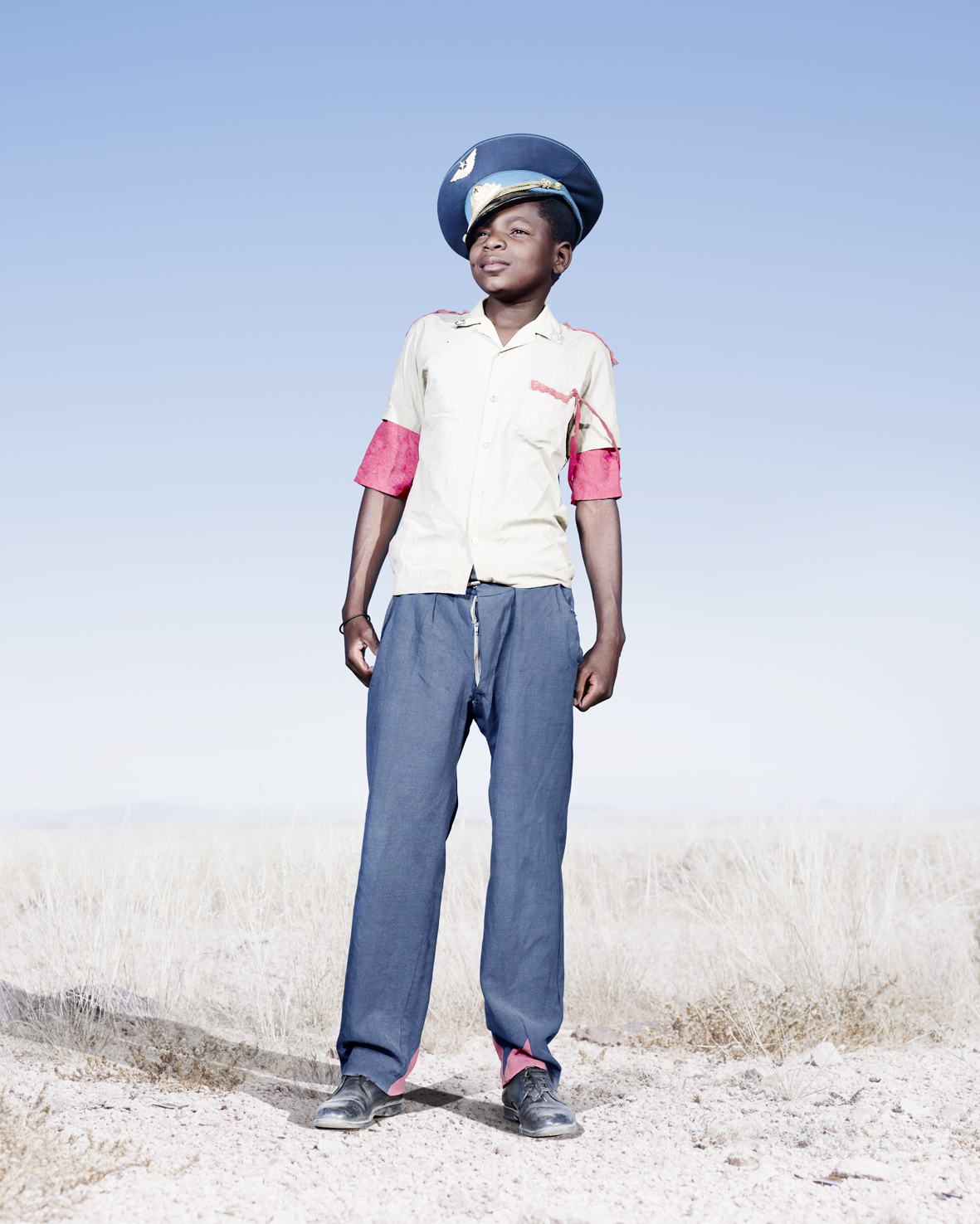 Herero cadet with blue hat.
