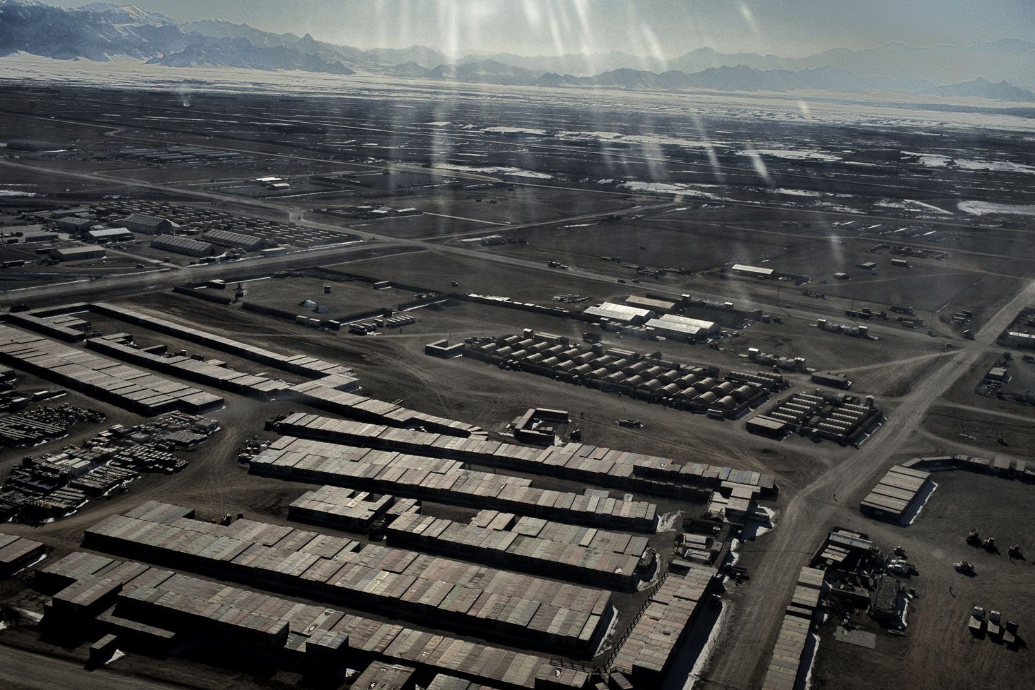 Hundreds of containers full of equipment are stacked in the yards of Forward Operating Base Shank, the logistical hub for American operations in Logar Province.